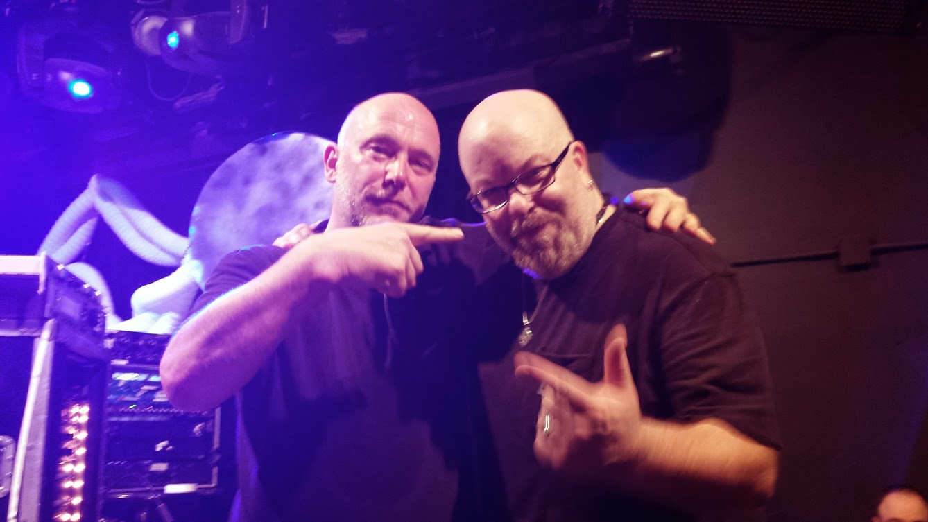 With Adrian Sherwood after his set remixing The Congos at Le Poisson Rouge, NYC- May 31, 2013