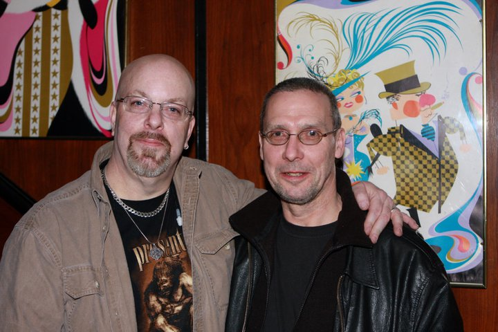 With Robin Storey of Reformed Faction, Rapoon and Zoviet France in Boston, MA- November 23, 2008. Photo by Mark Bourdeau