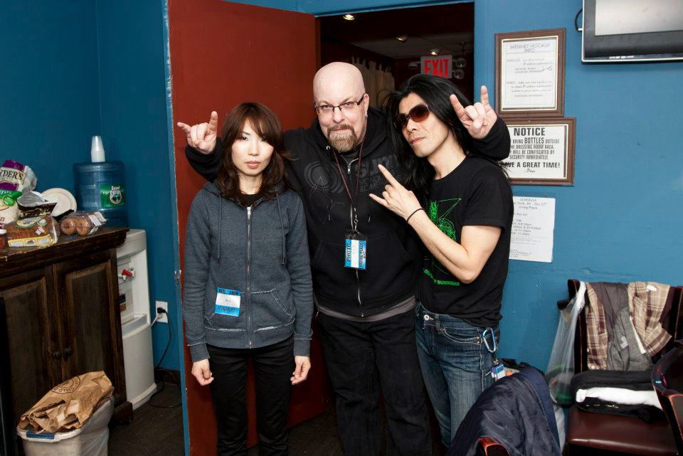 With Wata (left) and Atsuo (right) of Boris at Irving Plaza, NYC- October 27, 2011. Photo by Jimmy Archey