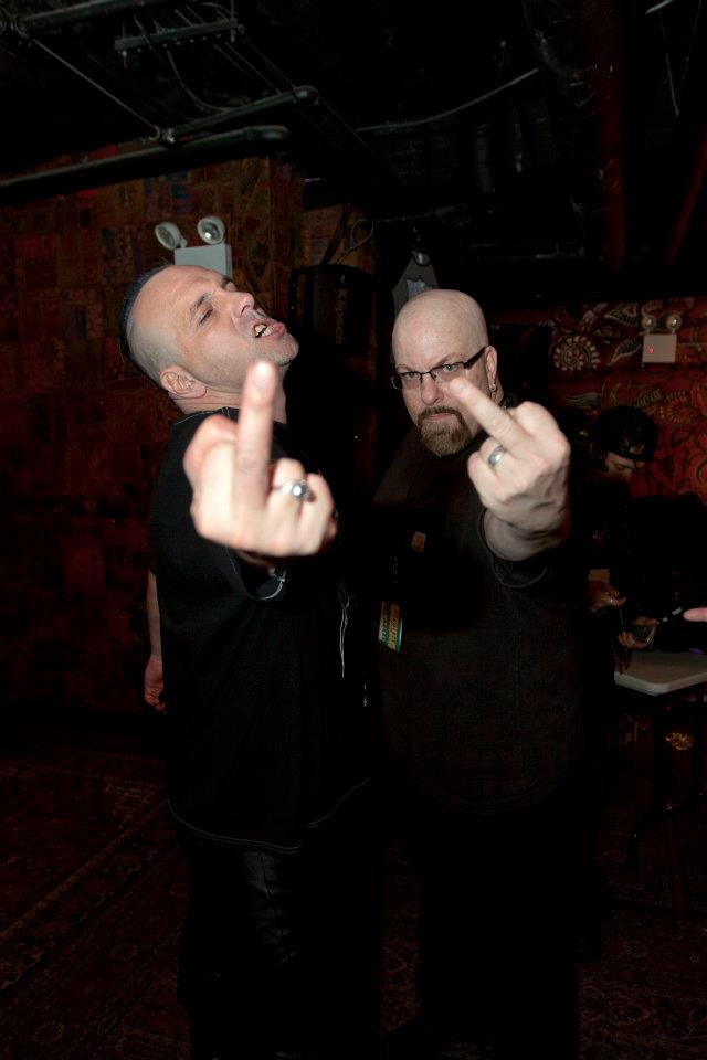 With with Attila Csihar of Mayhem at Gramercy Theater, NYC- November 3, 2011. Photo taken by artist Banks Violette