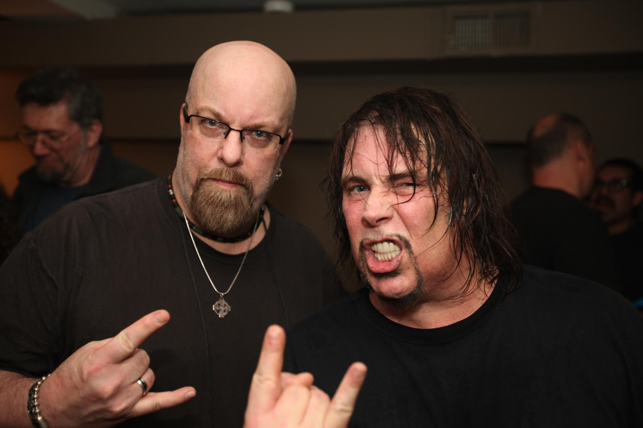 With with Dave Wyndorf of Monster Magnet at Music Hall of Williamsburg, Brooklyn, NY- January 13, 2012. Photo taken by Jceal Parker