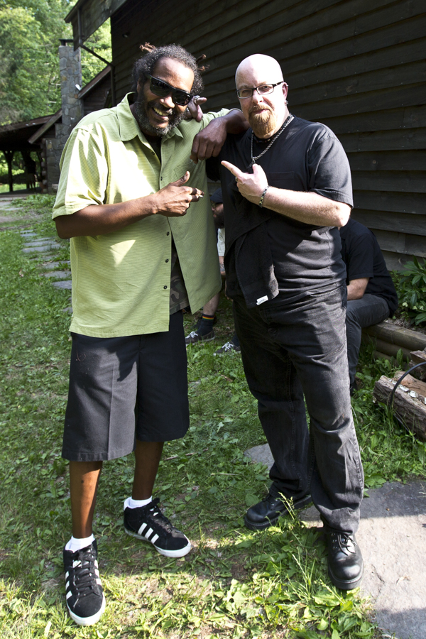 With Darryl Jenifer of Bad Brains between recordings at Woodstock Sessions at Applehead Recording and Production in Saugerties, NY- May 30, 2015