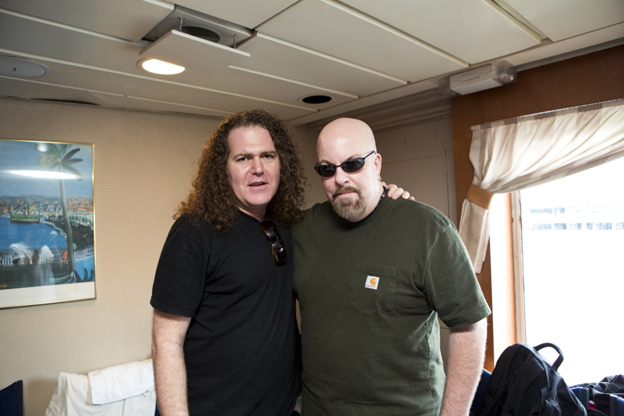 With Dean Rispler of Manitoba and The Dictators on the Rocks Off Concert Cruise in NYC Harbour- July 22, 2012