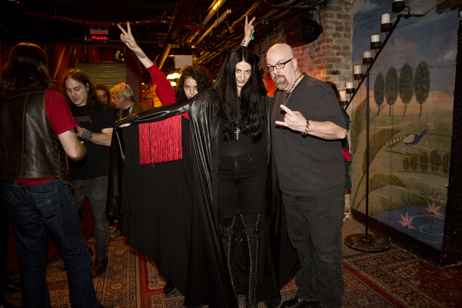 With Alia O'Brien of Blood Ceremony after their set at The Gramercy Theatre, NYC- November 1, 2014