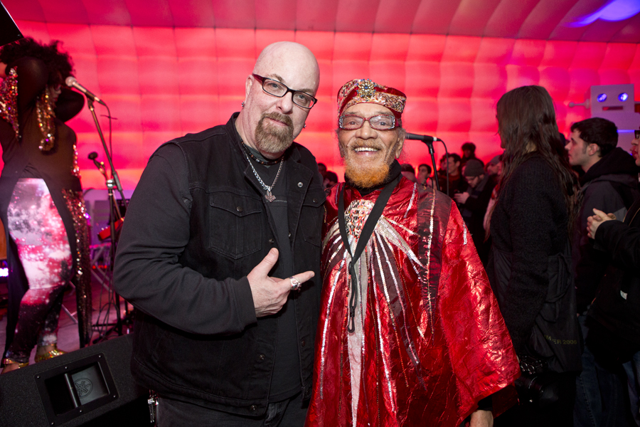 With Marshall Allen after his set with Sun Ra Arkestra directed by Marshall Allen at Sugarcube, NYC- January 31, 2015