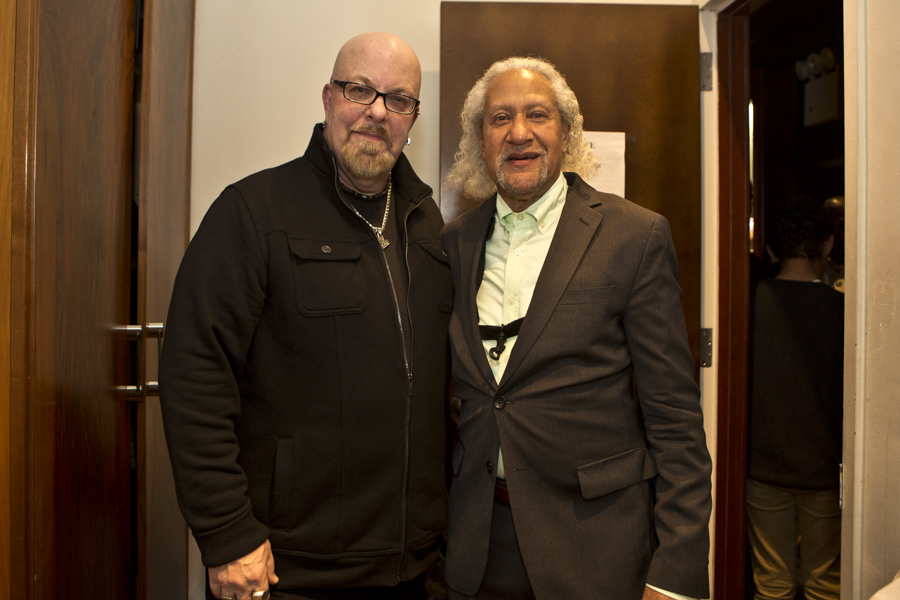 With jazz legend, saxophonist Gary Bartz after his set with McCoy Tyner Trio at Blue Note Jazz Club, NYC- January 25, 2016