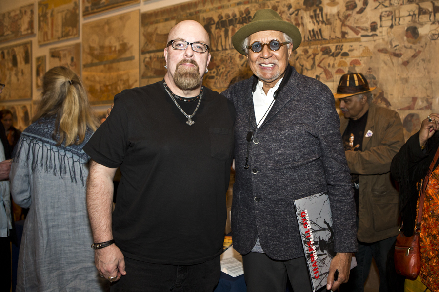 With Charles Lloyd after his set at Temple of Dendur at Metropolitan Museum of Art, NYC- April 18, 2015