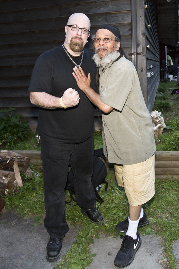 With Dr Know of Bad Brains between recordings at Woodstock Sessions at Applehead Recording and Production in Saugerties, NY- May 30, 2015
