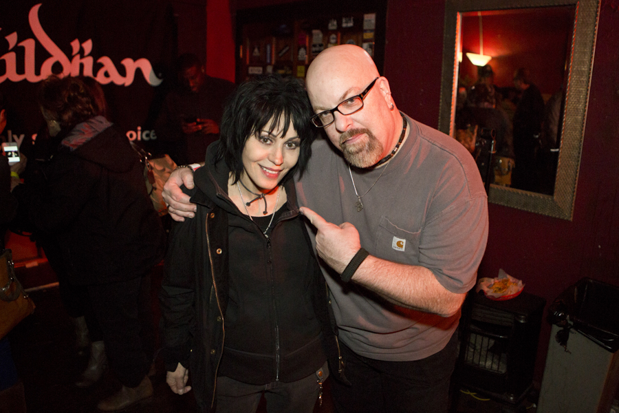 With Joan Jett at a Cherie Currie concert at Revolution Bar and Music Hall in Amityville, NY- November 8, 2013