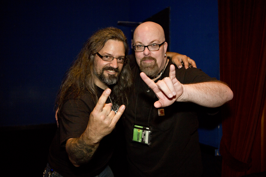 With Luc Lemay (of Gorguts) after his set at Best Buy Theater, NYC- April 11, 2014