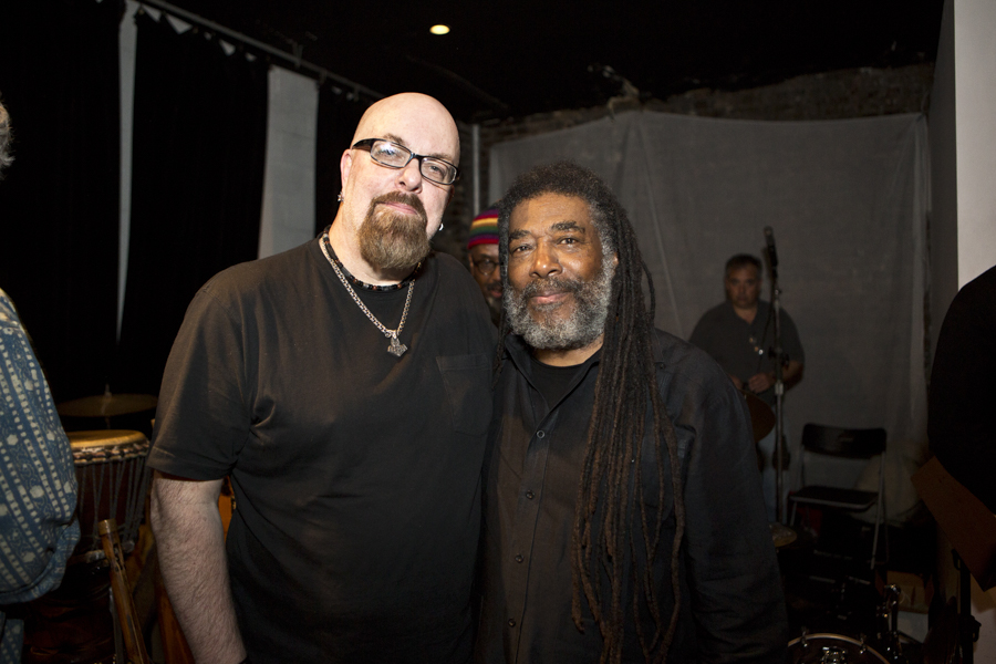 With Wadada Leo Smith after his set at The Stone, NYC- April 26, 2015