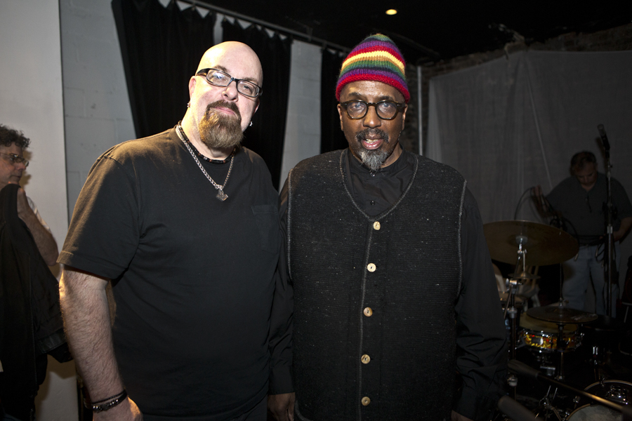 With William Parker after his set with Wadada Leo Smith Quartet at The Stone, NYC- April 26, 2015