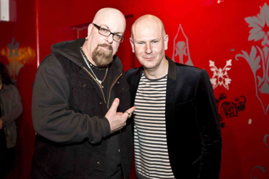 With Philip Selway (of Radiohead) after his solo set at Le Poisson Rouge, NYC- April 10, 2015
