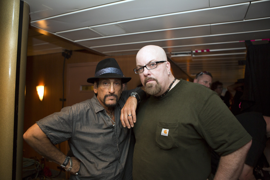 With Handsome Dick Manitoba of Manitoba and The Dictators on the Rocks Off Concert Cruise in NYC Harbour- July 22, 2012