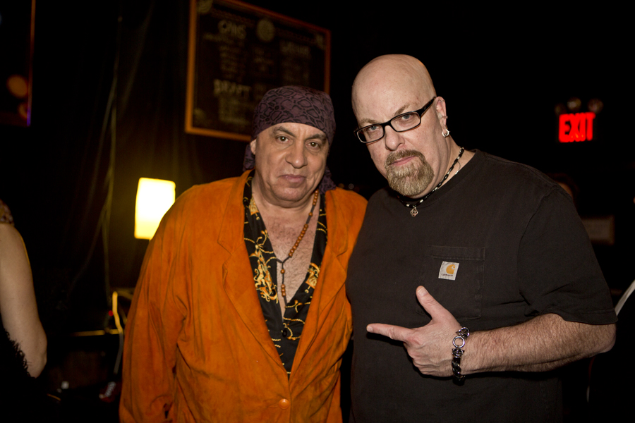 With Little Stevie Van Zandt (of E Street Band and The Sopranos) after the performance by The Empty Hearts at Knitting Factory in Brooklyn, NY- October 18, 2014