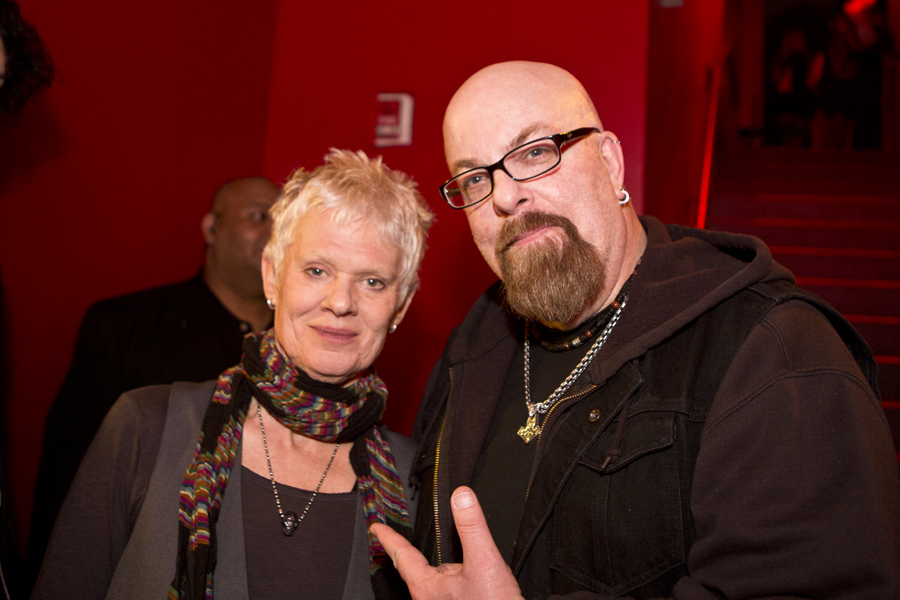 With Pat Place of Bush Tetras (and The Contortions) after her set at Le Poisson Rouge, NYC- May 1, 2015