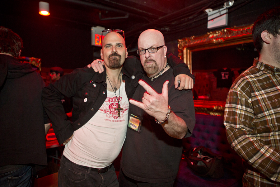 With Paul Bakija (of Reagan Youth, left) after his set at Gramercy Theatre, NYC- September 26, 2014