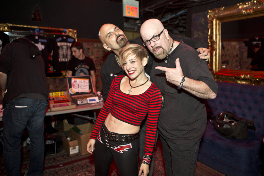 With Paul Bakija (left) and Tibbie X (both of Reagan Youth, left) after his set at Gramercy Theatre, NYC- September 26, 2014