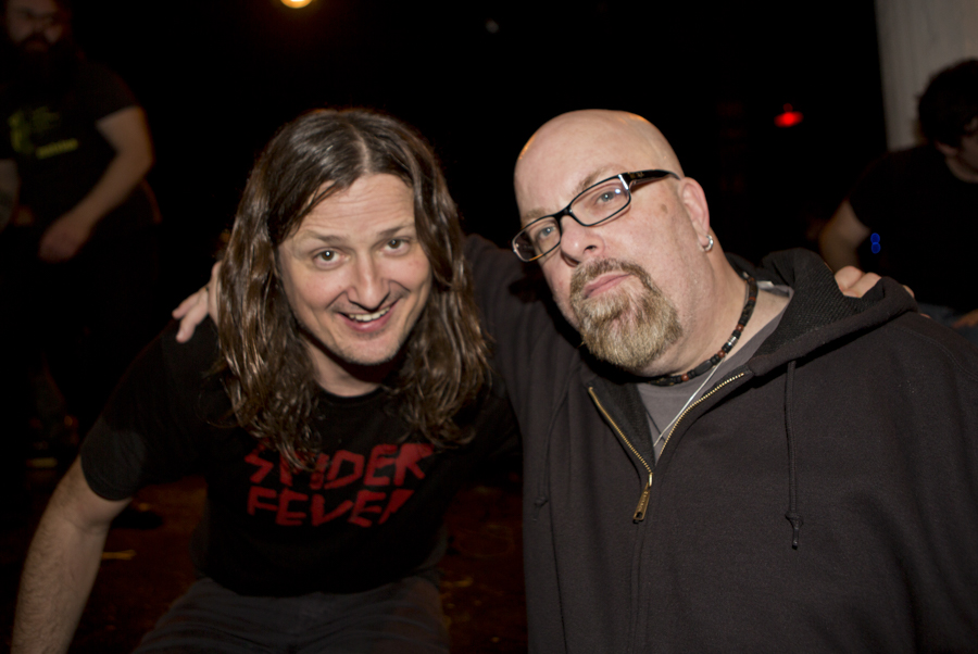 With Steven McDonald bassist and vocalist of Redd Kross at Santos Party House, NYC- April 6, 2013