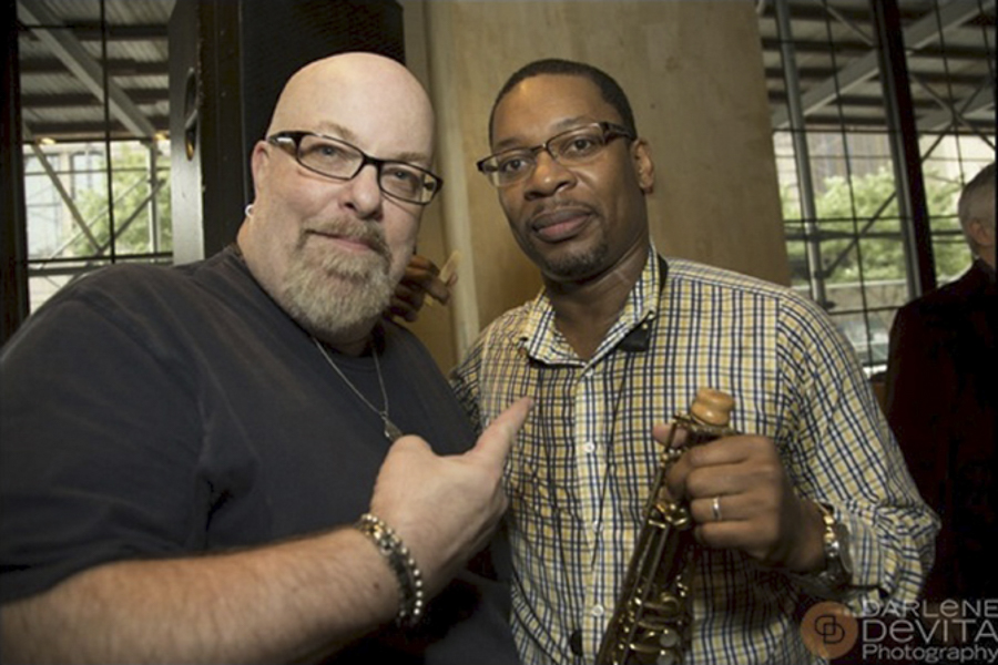 With Ravi Coltrane at the Benefit For The John and Alice Coltrane Home at En Japanese Brasserie, NYC- October 6, 2013. Photo by Darlene DeVita - www.darlenedevita.com