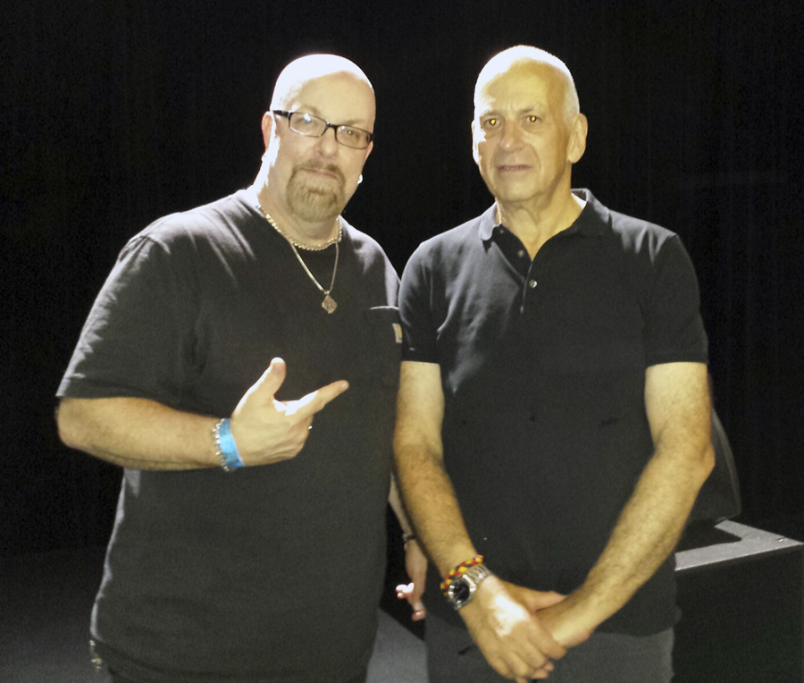With Daniel Miller (The Normal, Silicon Teens and founder of Mute Records) after his set at Music Hall of Williamsburg in Brooklyn, NY- July 3, 2014