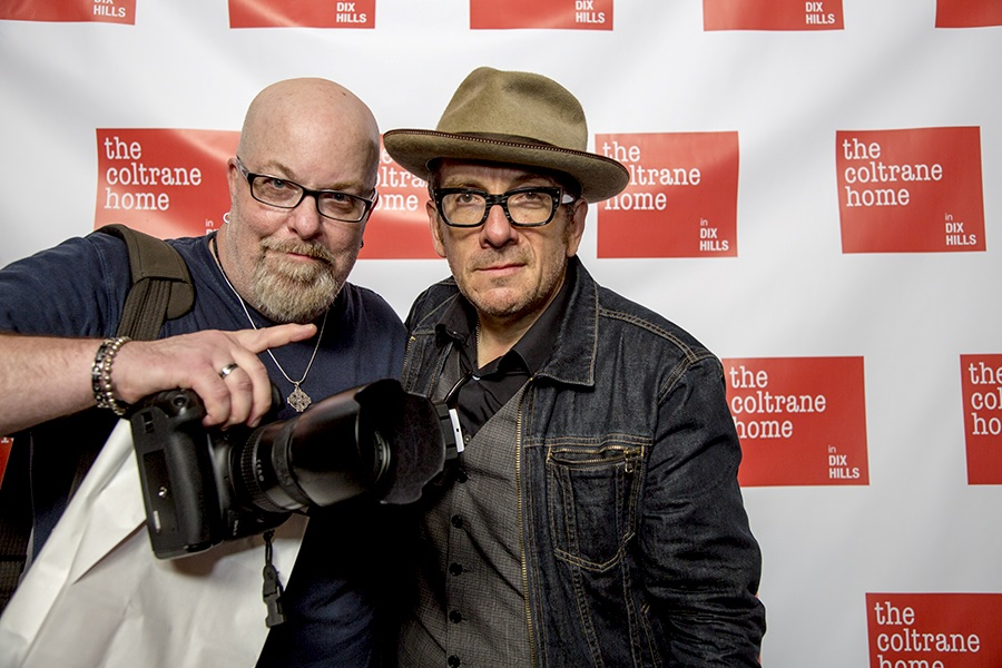 With Elvis Costello at the Benefit For The John and Alice Coltrane Home at En Japanese Brasserie, NYC- October 6, 2013. Photo by Darlene DeVita - www.darlenedevita.com