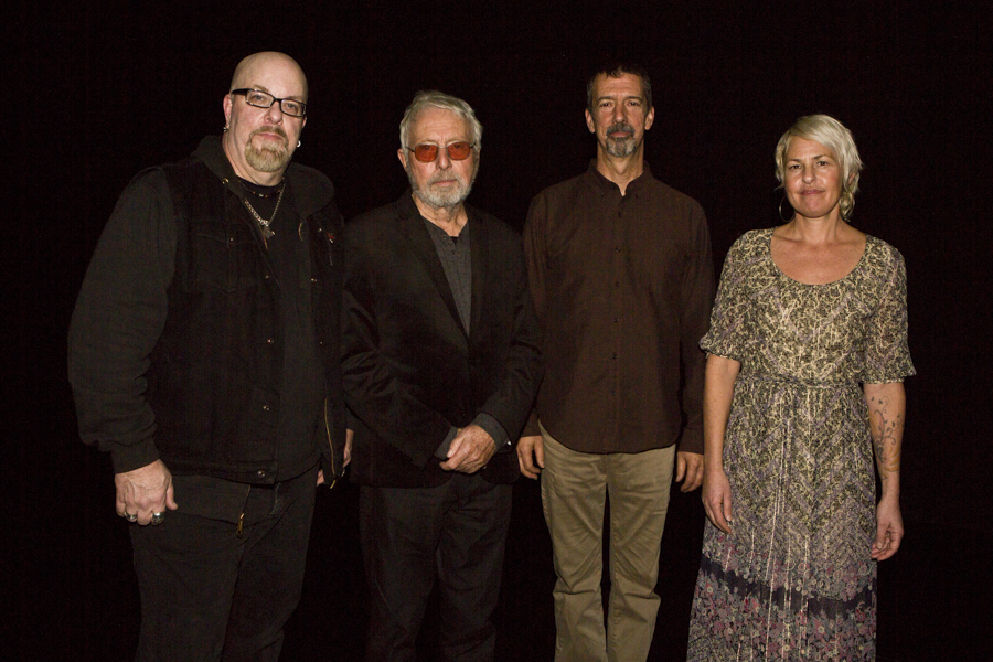 With ambient/classical/avant-garde composer Harold Budd, keyboardist Bradford Ellis and visual artist/vocalist Jane Maru after their set at The Kitchen, NYC- December 15, 2015