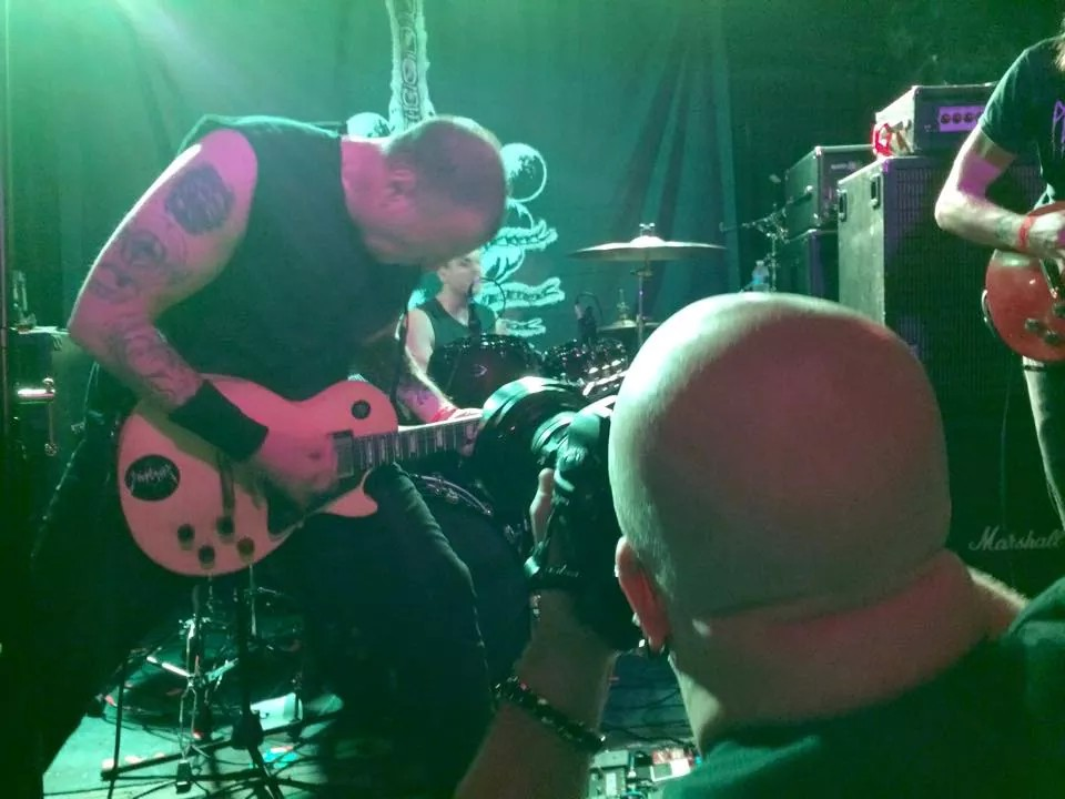 greg C photographing Tombs at Saint Vitus Bar in Brooklyn, NY- December 12, 2014.