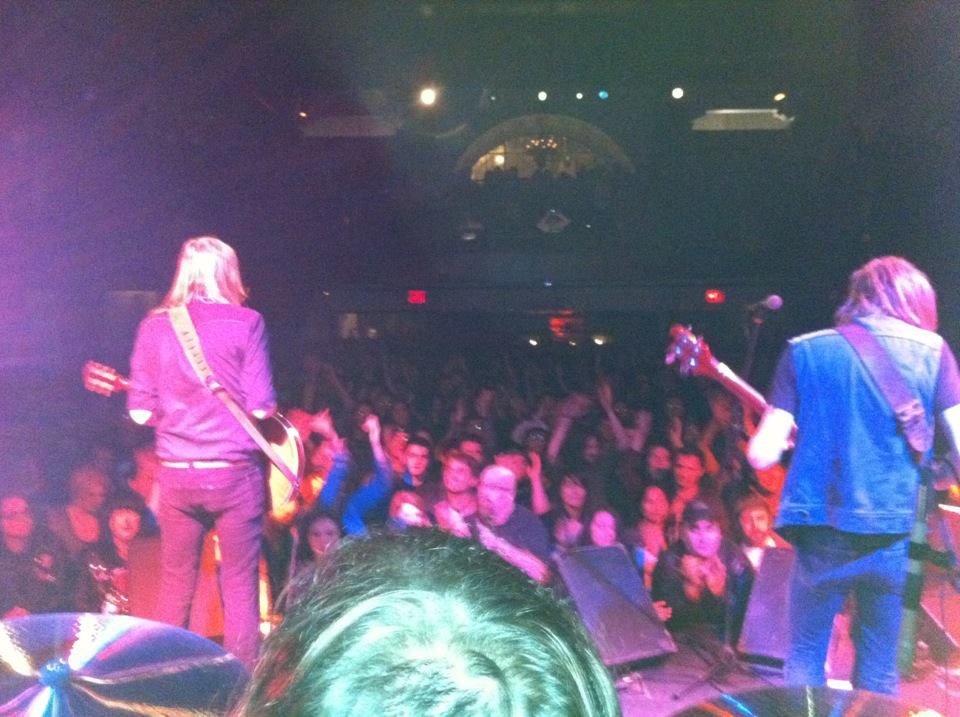 greg C (center) photographing Graveyard At Bowery Ballroom, NYC- January 12, 2012. Photo by Graveyard's crew.