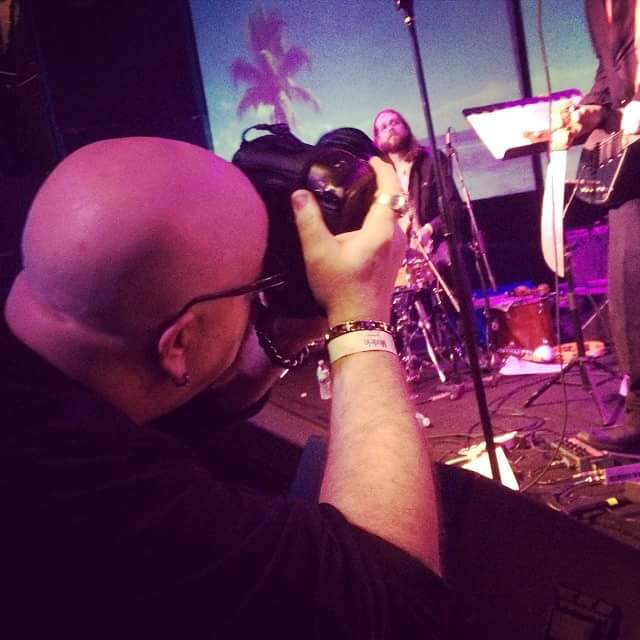 greg C photographing Harsh Embrace at Brooklyn Night Bazaar in Brooklyn, NY- December 27, 2014. Photo by Dan Gitlin.