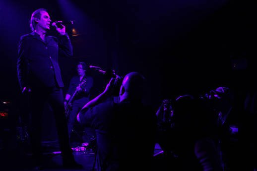greg C photographing Peter Murphy at Irving Plaza, NYC- November 21, 2011. Photo by Jen Maler.