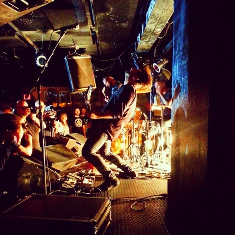 greg C (mid crowd, left) photographing Sannhet at Studio at Webster Hall, NYC- September 16, 2014. Photo by unknown.
