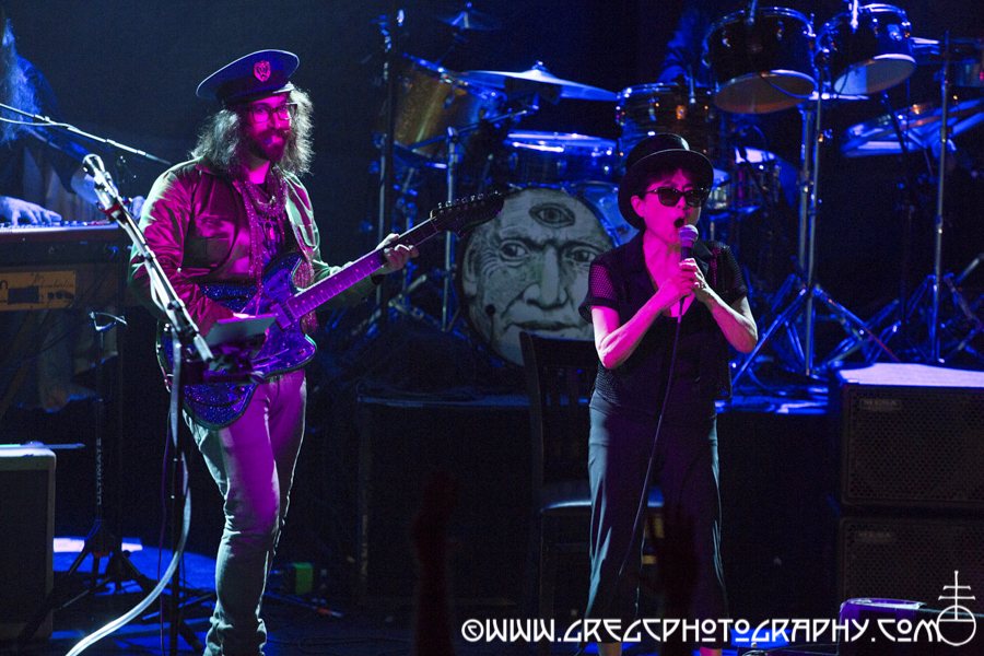 Sean Lennon and surprise guest Yoko Ono of Claypool Lennon Delirium at Irving Plaza, NYC