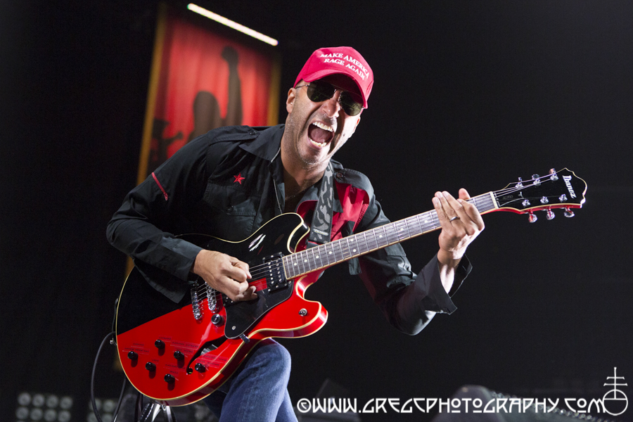 Tom Morello of Prophets of Rage at Barclays Center in Brooklyn, NY