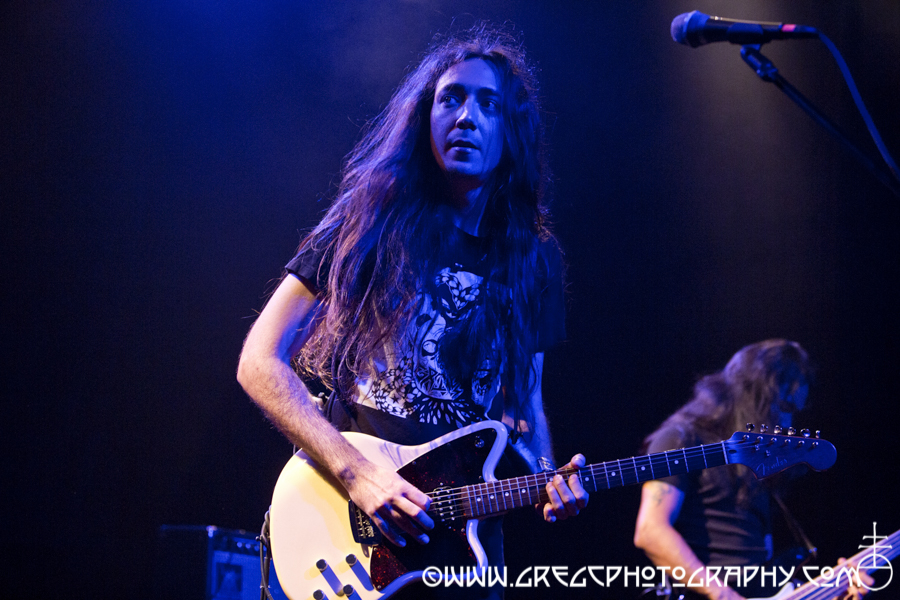 Neige (left) and Indria of Alcest at Irving Plaza, NYC - Alcest and The Body Photos For Sale