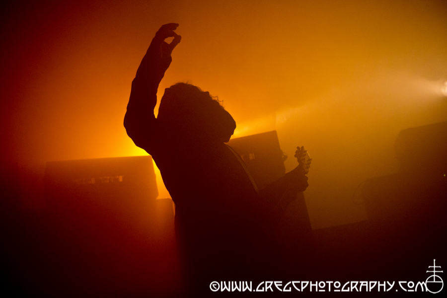 Greg Anderson of Sunn O))) at Knockdown Center in Maspeth, NY - Sunn O))) and Big Brave Photos