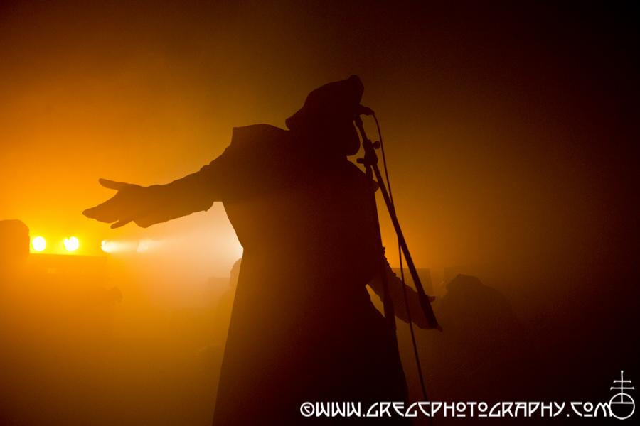 Attila Csihar of Sunn O))) at Knockdown Center in Maspeth, NY - Sunn O))) and Big Brave Photos From Knockdown Center
