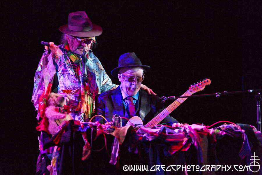 Charlemagne Palestine (left) and Rhys Chatham at Le Poisson Rouge, NYC - Charlemagne Palestine and Rhys Chatham Duo, C. Spencer Yeh and HEVM Photos
