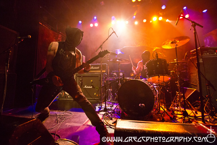 Commander Vanik (left) and SS of Midnight at Irving Plaza, NYC - Kreator, Obituary and Midnight Photos