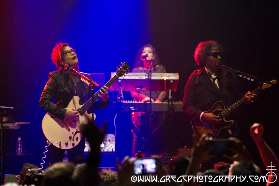(L-R) Wendy Melvoin, Lisa Coleman and Dez Dickerson of The Revolution at Webster Hall, NYC - The Revolution and DJ MARYMAC Photos