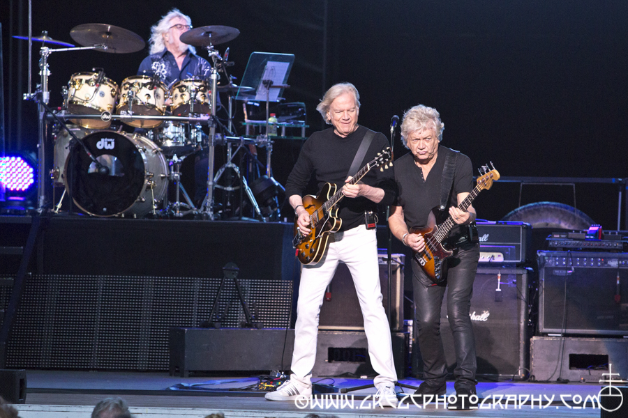 (L-R) Graeme Edge, Justin Hayward and John Lodge of The Moody Blues at Jones Beach Theater in Wantagh, NY - The Moody Blues Photos From Jones Beach Theater