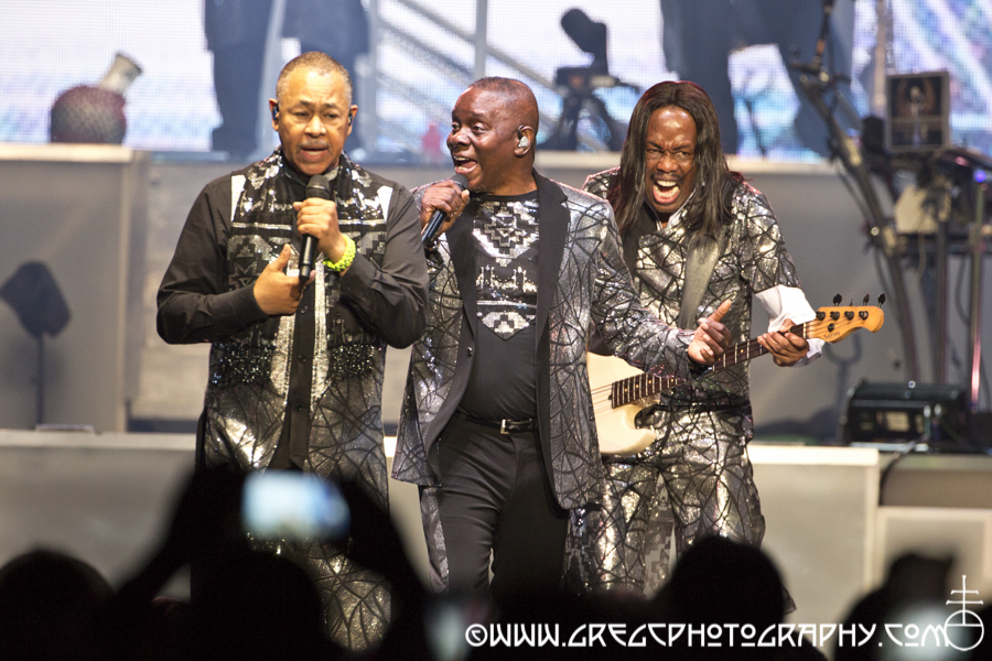 Ralph Johnson, Philip Bailey & Verdine White of Earth, Wind & Fire at Madison Square Garden - Earth, Wind & Fire and Chic featuring Nile Rodgers Photos