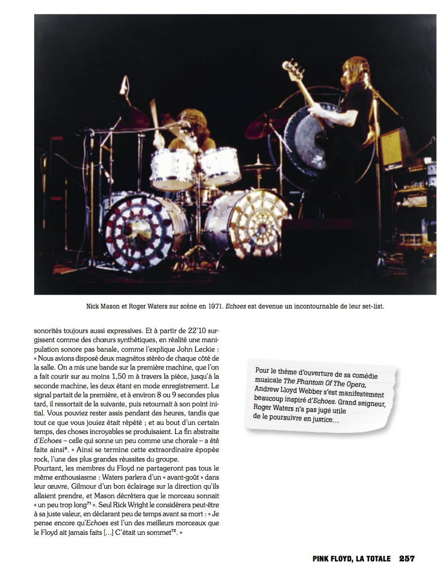 """Nick Mason (left) and Rogers Waters of Pink Floyd at Stony Brook University in Stony Brook, NY - Pink Floyd photo has been published in the new French book """"Pink Floyd, La Totale"""""""
