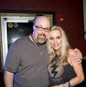 With Cherie Currie at Revolution Bar & Music Hall in Amityville, NY- November 8, 2013. Photo by Cindy Cristman.
