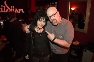 With Joan Jett at a Cherie Currie concert at Revolution Bar & Music Hall in Amityville, NY- November 8, 2013.