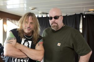 With Ross The Boss Friedman of Manitoba and The Dictators on the Rocks Off Concert Cruise in NYC Harbour- July 22, 2012. Photo by Cindy Cristman.