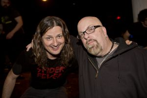With Steven McDonald bassist and vocalist of Redd Kross at Santos Party House, NYC- April 6, 2013. — at Santos Party House.