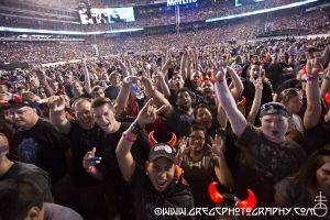 AC/DC fans at MetLife Stadium in East Rutherford, NJ - August 26, 2015.