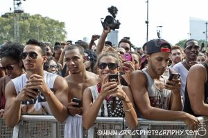 A$AP Rocky fans at Made In America Festival at Benjamin Franklin Parkway in Philadelphia, PA- August 31, 2013.