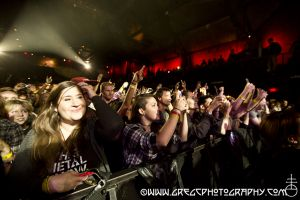 Alter Bridge fans at The Paramount in Huntington, NY- October 12, 2014.